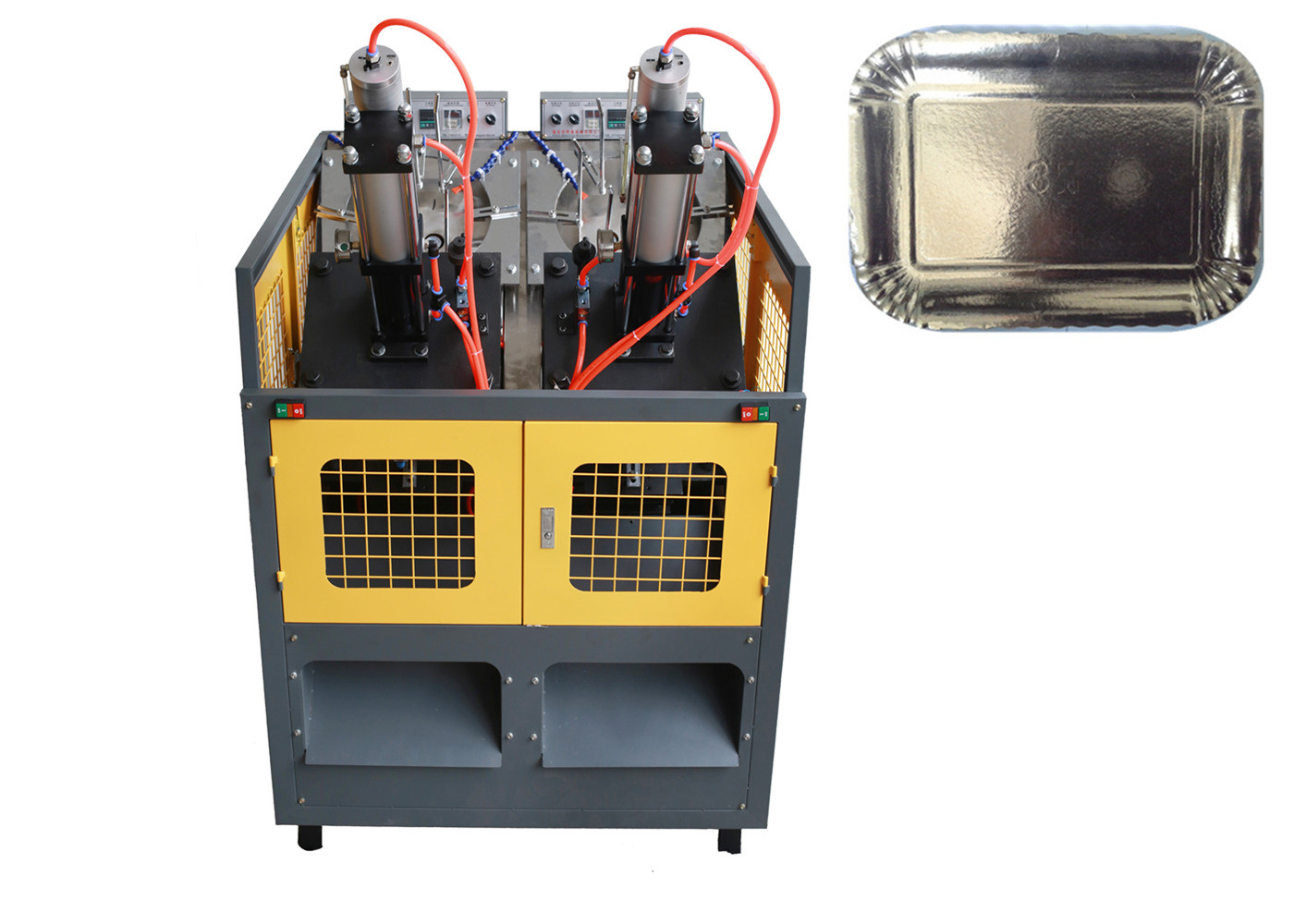 Photocell Detection Paper Plate Manufacturing Machine , Disposable Plate Making Machine